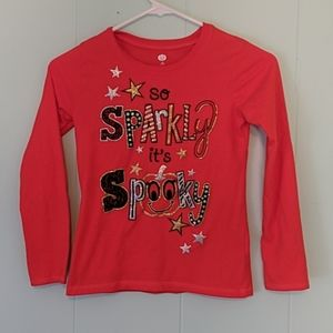 So Sparkly It's Spooky Halloween Top Girls SZ M